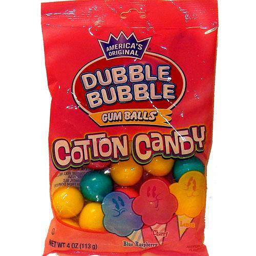 Dubble Bubble Cotton Candy Gum 4oz bags