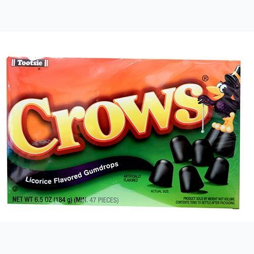 crows black licorice candy