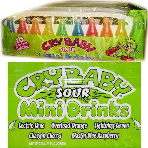 cry baby wax bottles with liquid