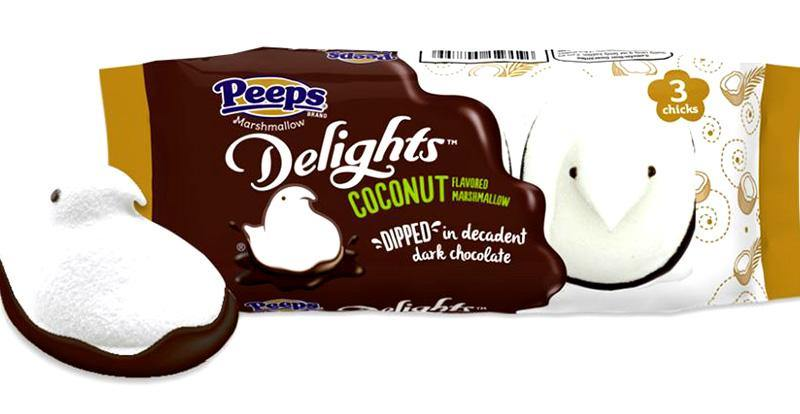 Peeps Coconut Chicks dipped in Dark Chocolate  3 pack