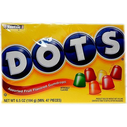 Dots Gumdrops theater candy