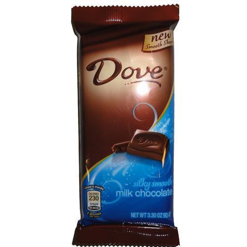 dove milk chocolate large size candy bar