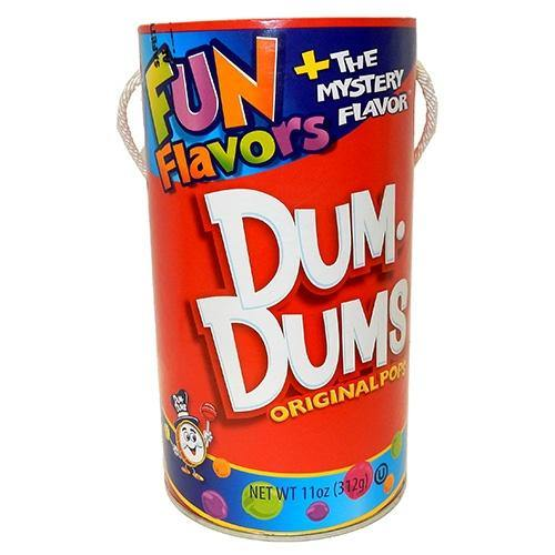 Can/bank filled with DumDum Original Pops