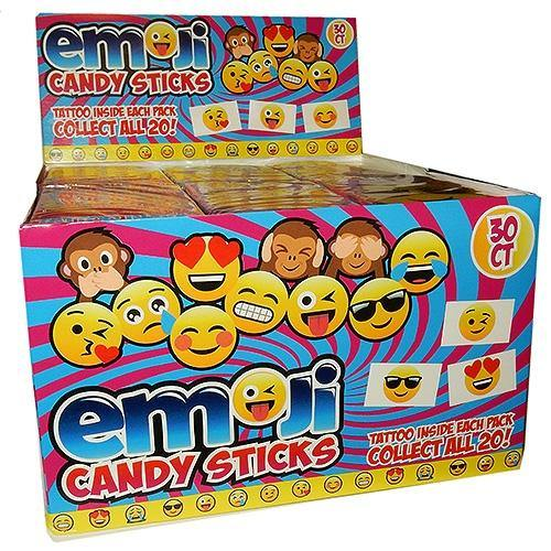 Emoji Candy Sticks with Tattoos