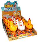 Fancy Henny Toy Hen with Gum