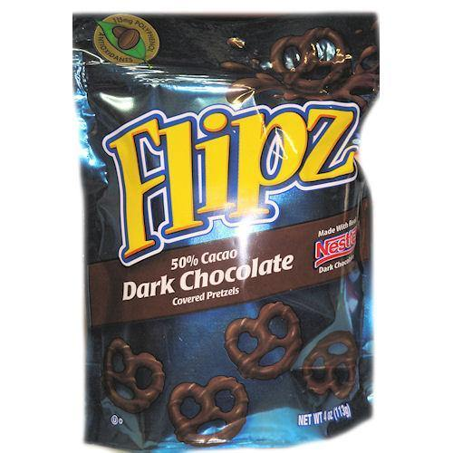 flipz dark chocolate pretzels 4oz bag