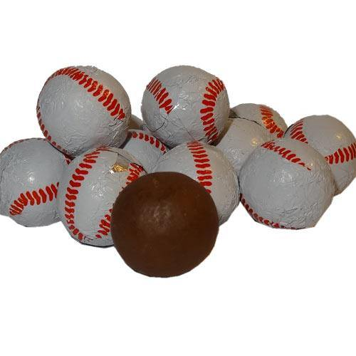 foil wrapped chocolate baseballs bulk