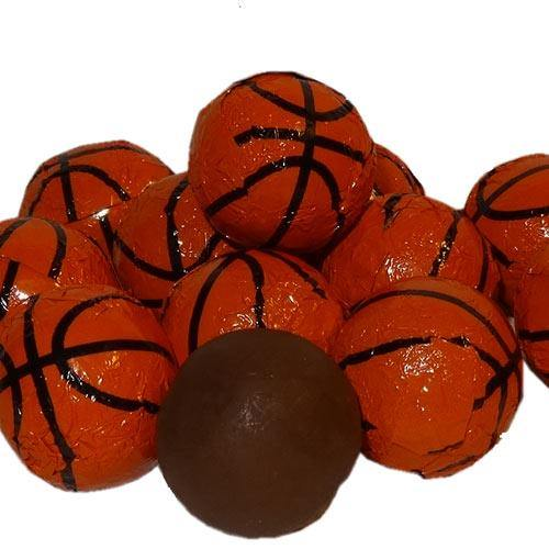 foil wrapped chocolate basketballs