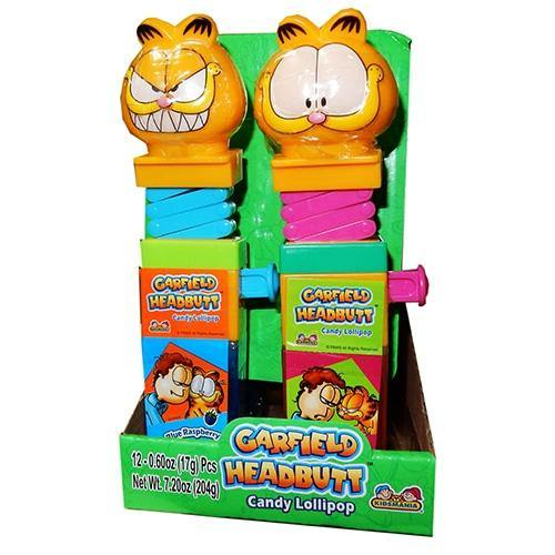 Garfield HeadButt Candy Lollipops