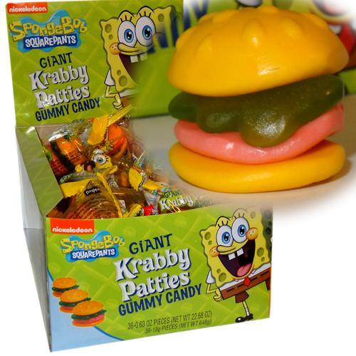 giant krabby patty gummies