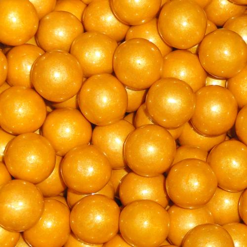 gold sixlets chocolate candy