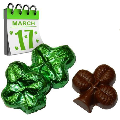 green foil covered chocolate shamrocks