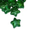 green foil covered chocolate stars