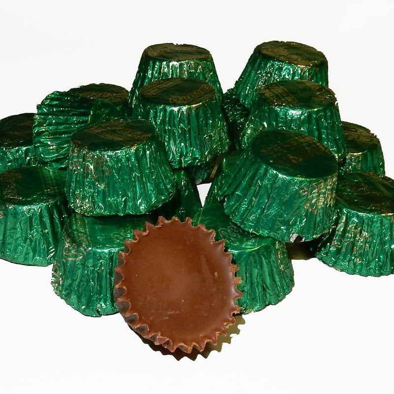 Mini Reese's Cups in all green foil