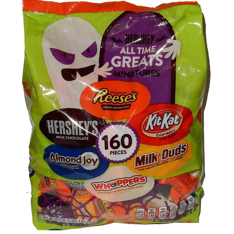 Hershey All Time Great 160 ct Miniature Candy Bars