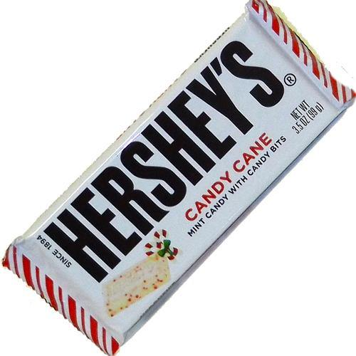 hersheys candy cane lagre chocolate bars