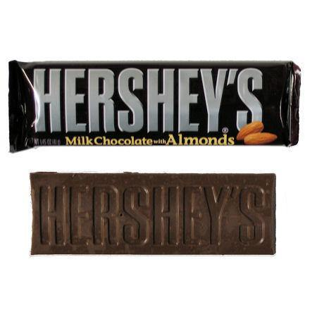 hersheys original chocolate and almond bar