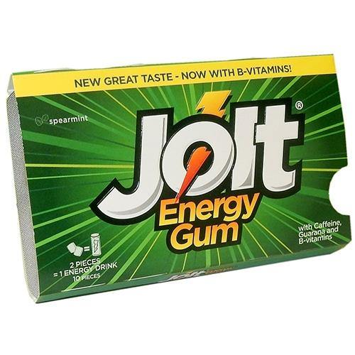 Jolt Spearmint Energy Gum