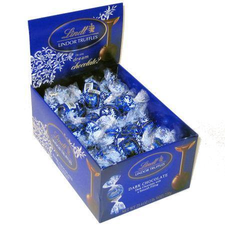 lindor dark chocolate truffles 60 piece box
