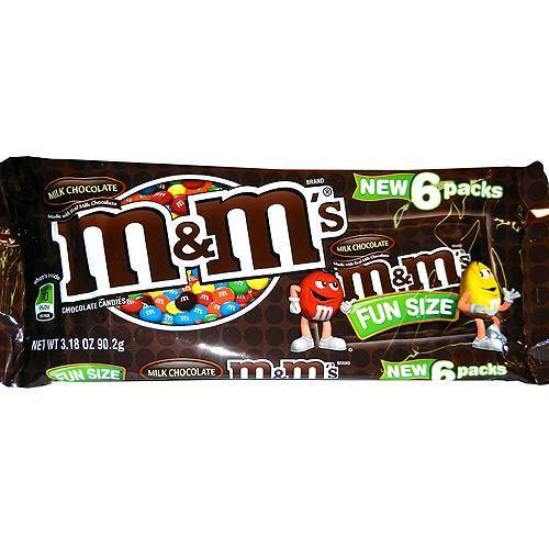 mandms 6 pack snack size