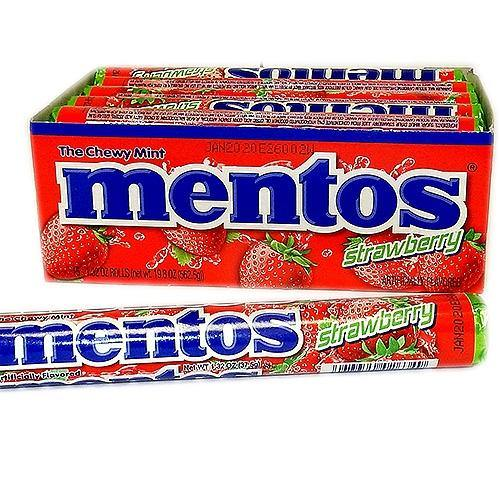 Mentos Strawberry flavored Chewy Mints