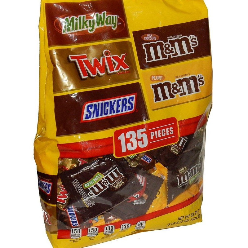 Mars Wrigley Fun Size Chocolate Variety Bag - 135 count