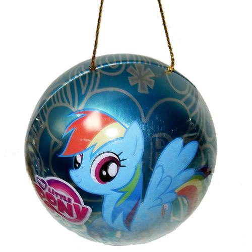 My Little Pony Christmas ornaments with Wonka Candy