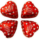 Chocolate Double Crisp Heart in Red Foil