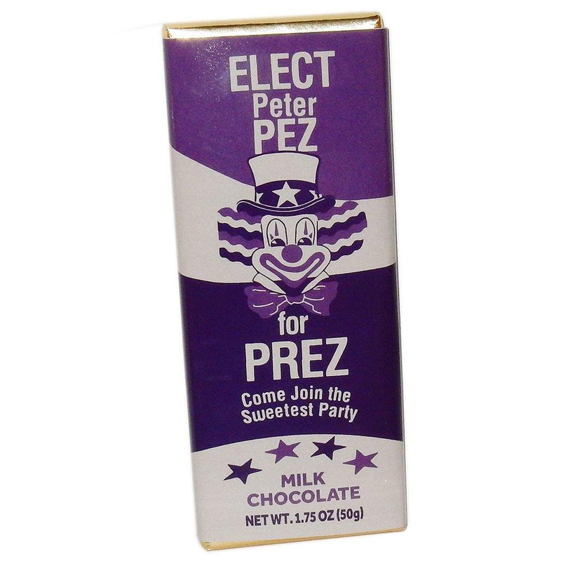 Election 2020 PETER PEZ for PREZ Chocolate Bar