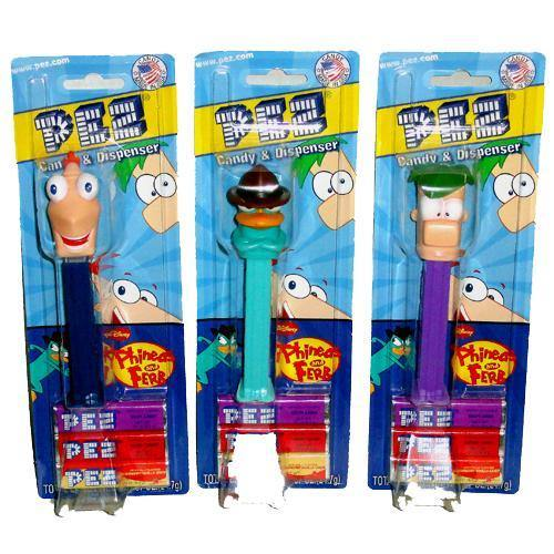 pez phineas and ferb blister