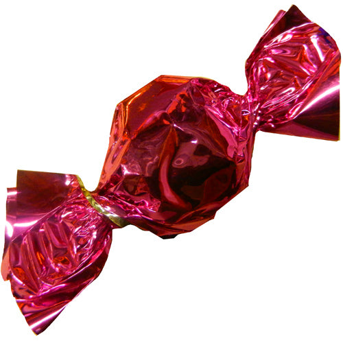 pink foil wrapped hard candy