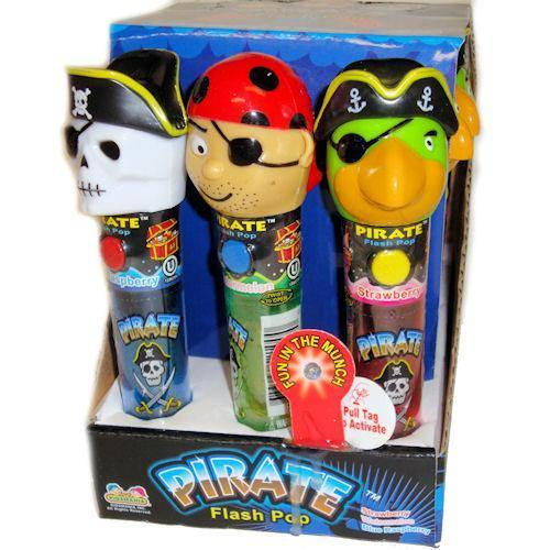 pirate flash pop with candy