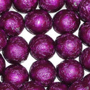purple foil covered chocolate balls