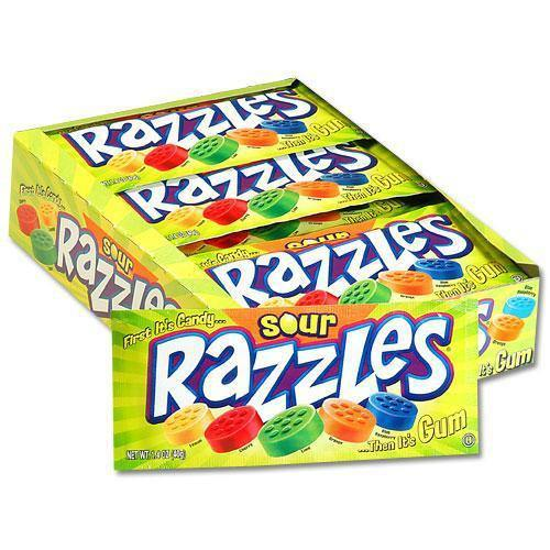 Razzles Sour Candy