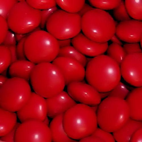 red chocolate gems