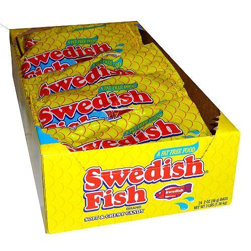 red swedish fish 24 pack box