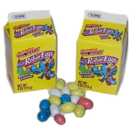 robin eggs easter candy miniatures in cartons