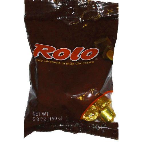 rolo caramel and chocolate bags