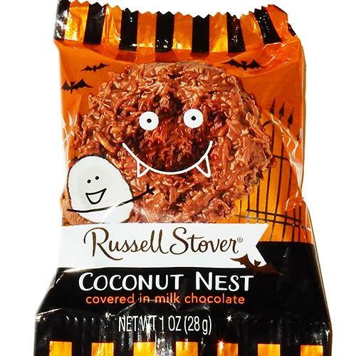 Russell Stover Coconut Nest Halloween Pumpkins
