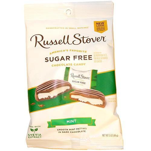 Russell Stover Sugar Free Mint Patties in Dark Chocolate