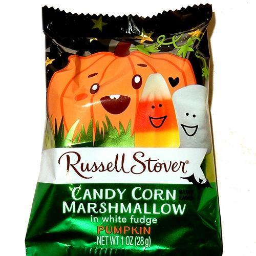Russell Stover White Fudge Candy Corn Pumpkins