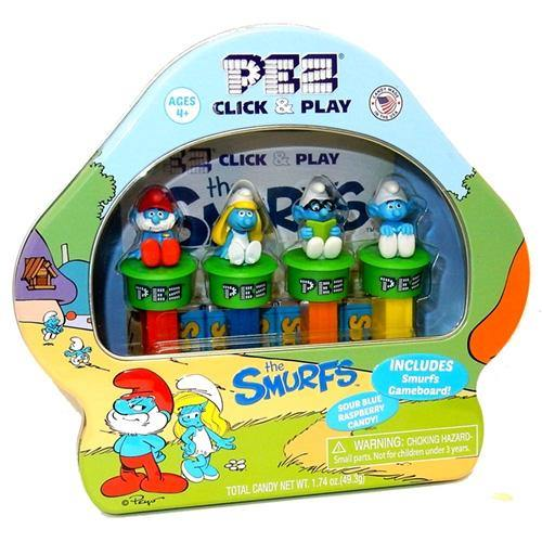 Smurfs collectible set from Pez