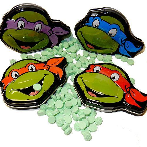 Teenage Mutant Ninja Turtles Watermelon Shell Sours candy and tins