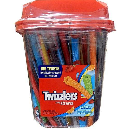 Twizzlers Rainbow Licorice 105ct tub
