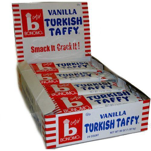 vanilla bonomo turkish taffy 24 bars