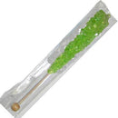 watermelon green rock candy sticks wrapped