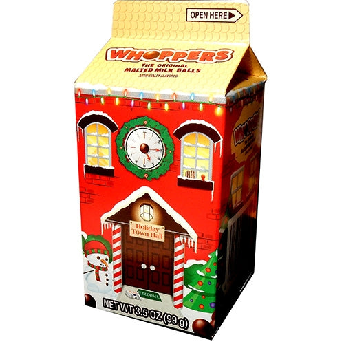 Whoppers Candy holiday carton