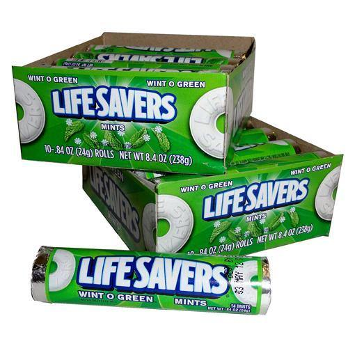 wint o green life savers rolls