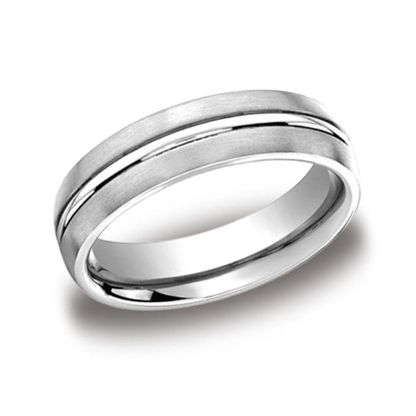 Carved Wedding Band - Center Line