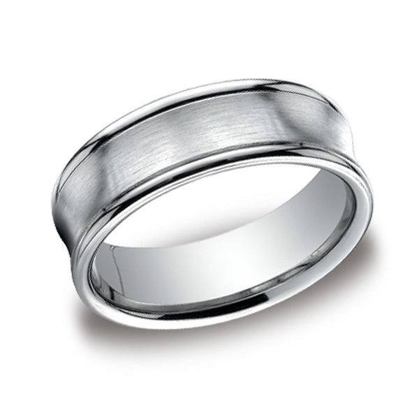 Carved Wedding Band - Concave